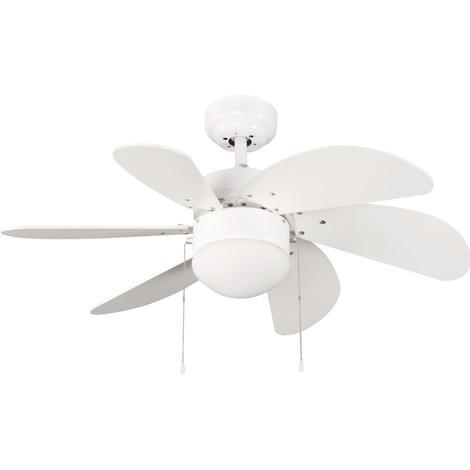 Ventilador de techo con luz Basic Blanco
