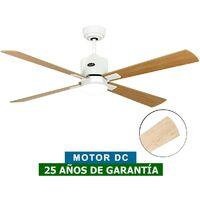 Ventilador de techo con luz CasaFan 92352217 ECO NEO 132 Arce o haya/ blanco