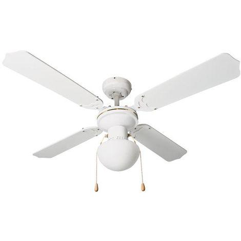 Ventilador de techo con luz habitex vtr-100 blanco - talla