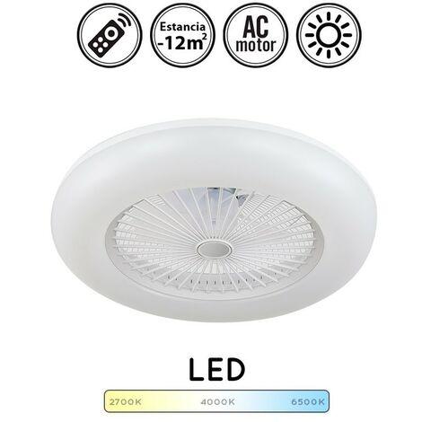 Ventilador de techo con luz led Raki blanco
