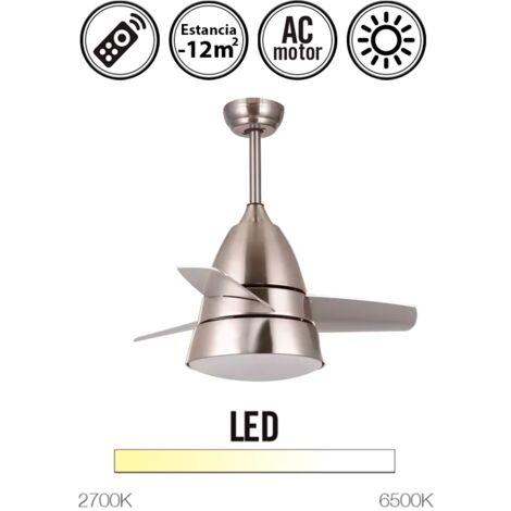 Ventilador de techo con luz serie Alize color plata