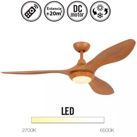 Ventilador de Techo con luz serie Lowa color madera