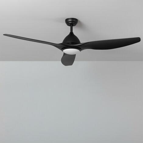 Ventilador de Techo Elegant PRO Negro Ultrasilencioso LED CCT Seleccionable 90W Seleccionable (Cálido-Neutro-Frío)