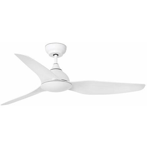 Ventilador de techo Faro Barcelona33770 SIOUX blanco con motor DC