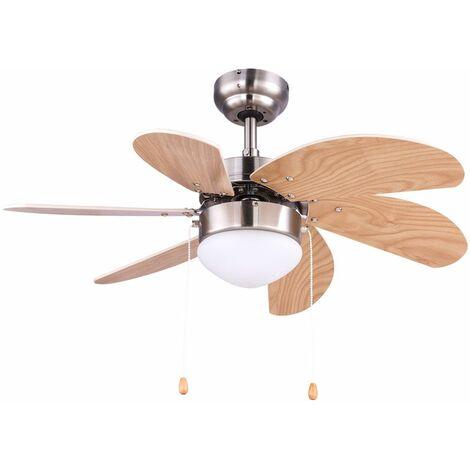Ventilador de techo interruptor de extracción lámpara radiador calentador vidrio luz haya máquina de viento 78 cm Globo 03301