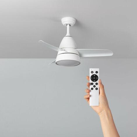 Ventilador de Techo LED Industrial Blanco CCT Seleccionable 55W Seleccionable (Cálido-Neutro-Frío)