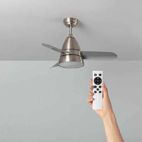 Ventilador de Techo LED Industrial Plata CCT Seleccionable 55W Seleccionable (Cálido-Neutro-Frío)