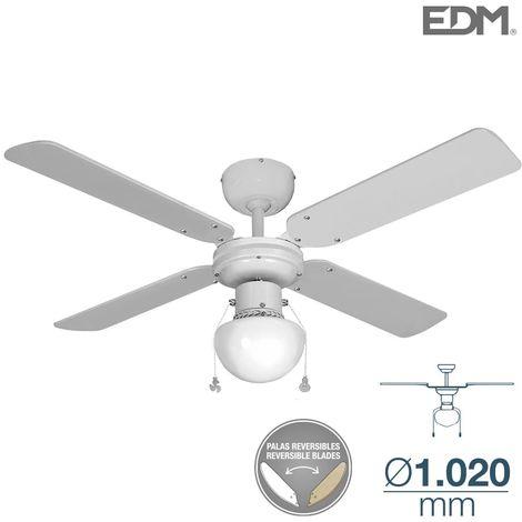 Ventilador de techo modelo caribe blanco 50w ø aspas 102 cm edm