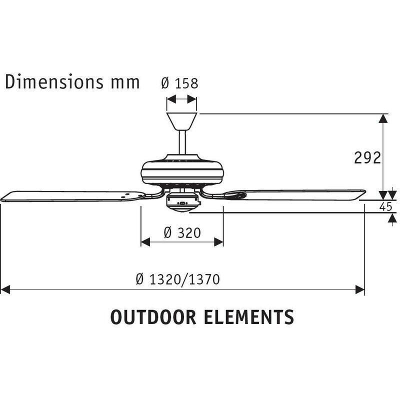 Hunter 24323 ventilador de techo para exteriores Outdoor Elements bronce