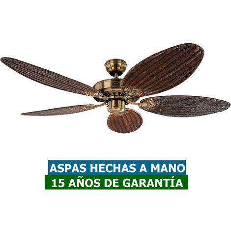Ventilador de techo tropical CasaFan 51321396 CLASSIC ROYAL 132 mimbre