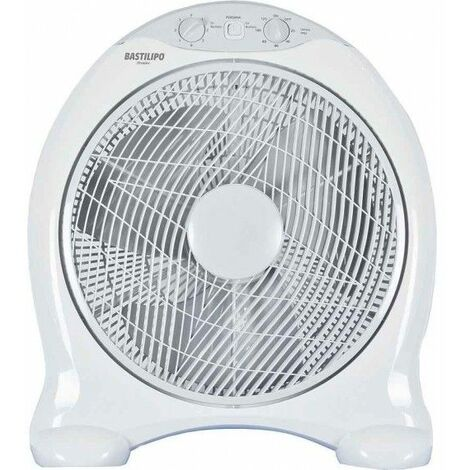 Ventilador MARBELLA blanco, portatil de Bastilipo