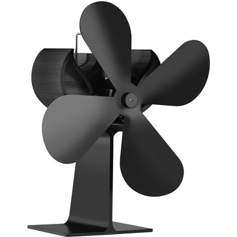 Ventilador para chimenea domestica de 4 palas, distribucion eficiente del calor