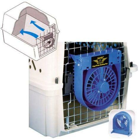 Ventilador para transportines de perros o, jaulas, apto para mantener tu mascota fresca durante el transporte, funciona a pilas.