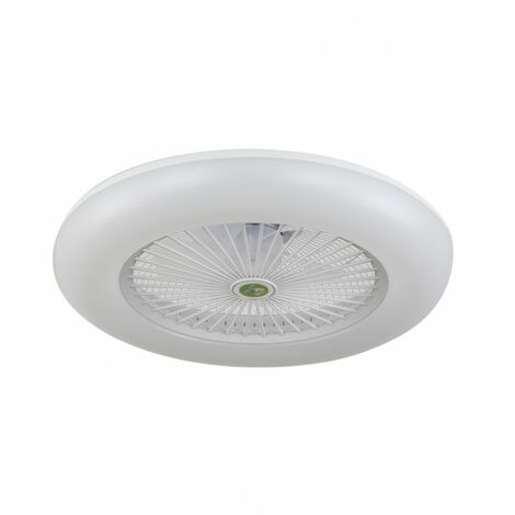 Ventilador-plafon led dimable RAKI blanco, NOVEDAD.