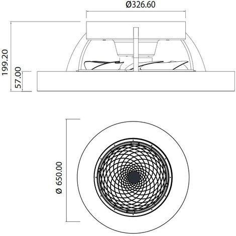 Ventilador Plafón LED Tibet (70W)