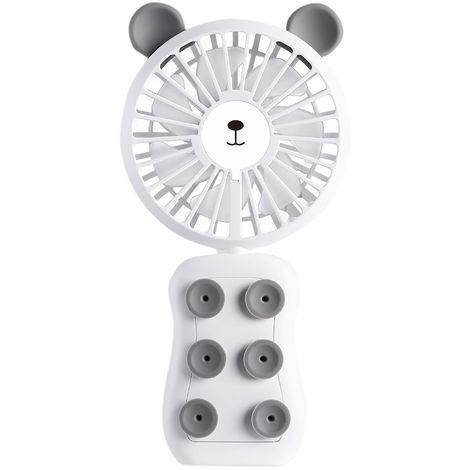 Ventilador portatil portatil de carga de escritorio, blanco