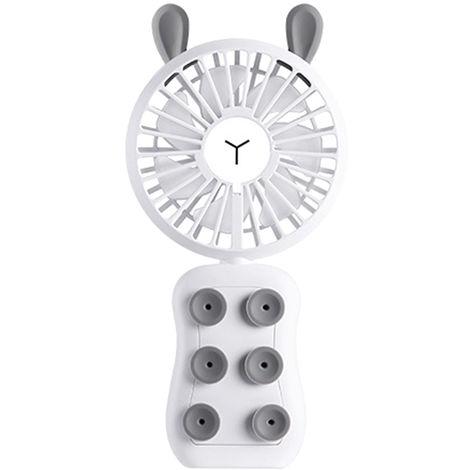 Ventilador portatil portatil de carga de escritorio, Conejo, Blanco