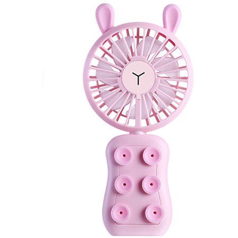 Ventilador portatil portatil de carga de escritorio, rosa