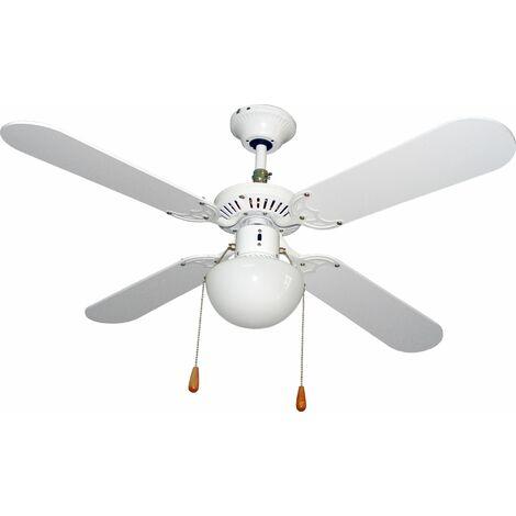 Ventilador techo 105cm con luz 50w-3v 4 aspas vivah