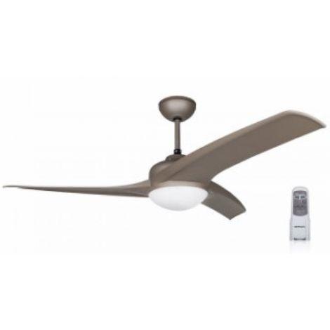 Ventilador techo 105cm con luz 60w-3v 3 aspas mando distanci