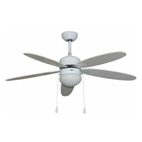 Ventilador techo 130cm con luz 50w-3v 5 aspas bl segin vivah