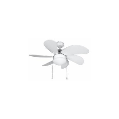 Ventilador techo 80cm 50w-3v 6 aspas bl orbegozo 0
