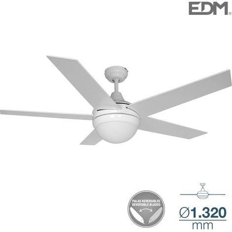 Ventilador techo modelo adriatico Blanco/cromo Ø130cm EDM 120m3/min