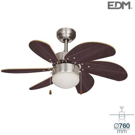 Ventilador techo modelo aral cromo/wengue Ø76cm EDM 80m3/min