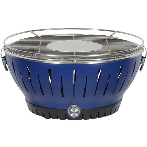 Ventilated Charcoal BBQ - Blue