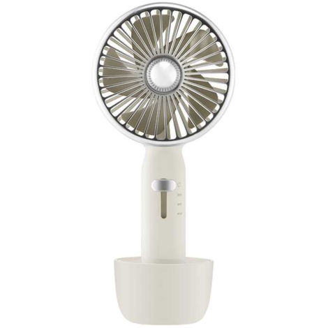 Ventilateur, 2 En 1, Usb Rechargeable, 3 Vitesses, Blanc, Xiaomi