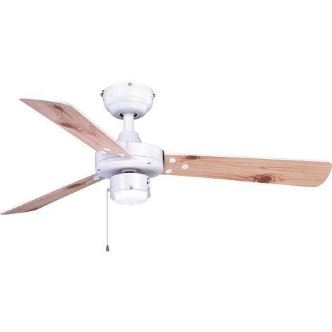 Ventilateur 3 pales blanc sans lumière cm 107x38,7x107 AireRyder FN44477N