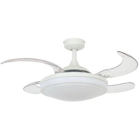 Ventilateur à pales rétractables Blanc cm 94x38x94 Fanaway 212980