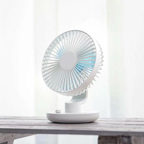 Ventilateur à tête mobile Bureau d'étudiant Mini ventilateur USB silencieux blanc