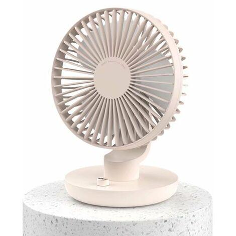 Ventilateur à tête mobile Bureau d'étudiant Mini ventilateur USB silencieux Rose
