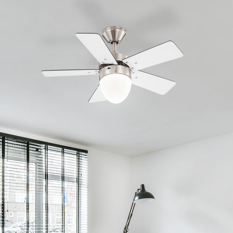 Ventilateur au plafond interrupteur Á tirette éclairage lumière Globo Marva 0332