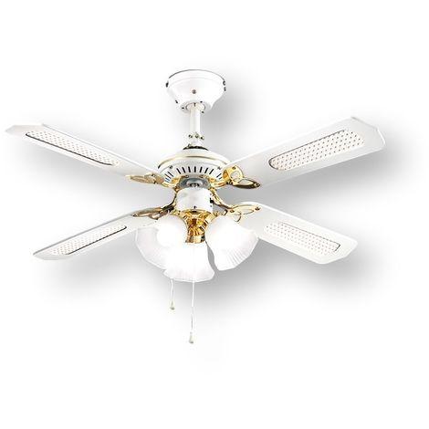 Ventilateur avec 4 pales blanc clair PERENZ PERENZ-7060B