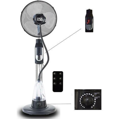 Ventilateur avec Brumisateur d'eau sur pied oscillant 70 W