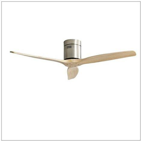 """main image of """"Ventilateur avec moteur NICKEL-bee DC AGUILON, pas de lumière avec télécommande et FABRILAMP"""""""