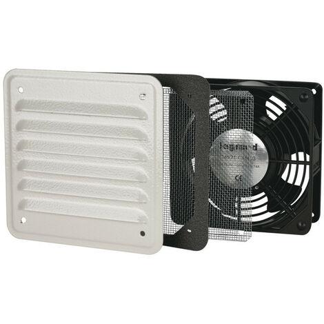 Ventilateur avec ouïe métal débit 30m3 -h avec filtre et 160m3 -h soufflage libre IP32 IK10 RAL 7032 (036571)