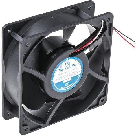 Ventilateur axial RS PRO 12 V c.c., 120 x 120 x 38.5mm, 105cfm, 6W