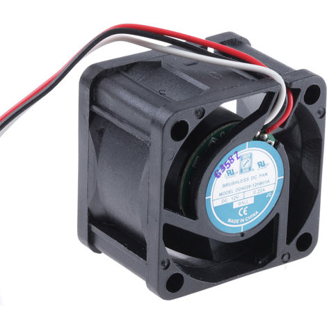 Ventilateur axial RS PRO 12 V c.c., 40 x 40 x 28mm, 12cfm, 2.64W