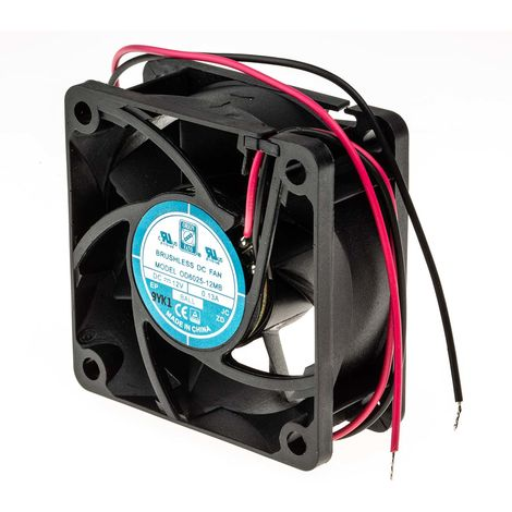 Ventilateur axial RS PRO 12 V c.c., 60 x 60 x 25mm, 18cfm, 1.7W