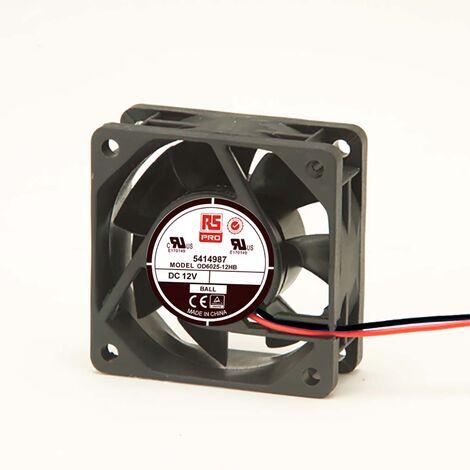 Ventilateur axial RS PRO 12 V c.c., 60 x 60 x 25mm, 24cfm, 2.8W