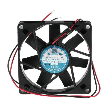 Ventilateur axial RS PRO 12 V c.c., 80 x 80 x 15mm, 20cfm, 1.1W