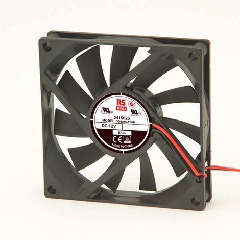 Ventilateur axial RS PRO 12 V c.c., 80 x 80 x 15mm, 30cfm, 2.3W
