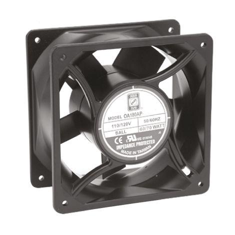 Ventilateur axial RS PRO 230 V c.a., 119.5 x 119.5 x 38.5mm, 71cfm, 11W