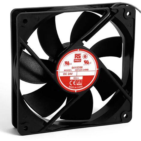 Ventilateur axial RS PRO 24 V c.c., 120 x 120 x 25mm, 83cfm, 4W