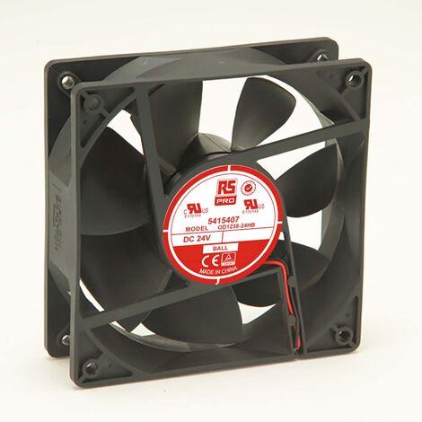 Ventilateur axial RS PRO 24 V c.c., 120 x 120 x 38.5mm, 105cfm, 7W