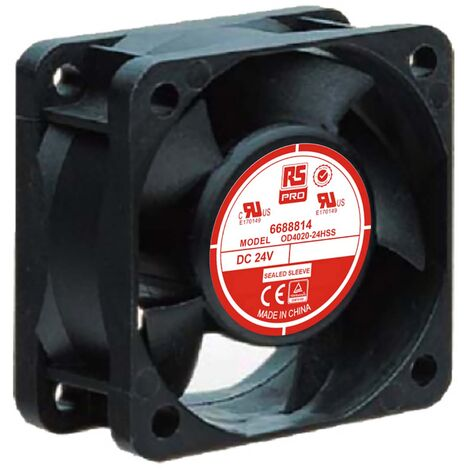 Ventilateur axial RS PRO 24 V c.c., 40 x 40 x 20mm, 9cfm, 1.7W