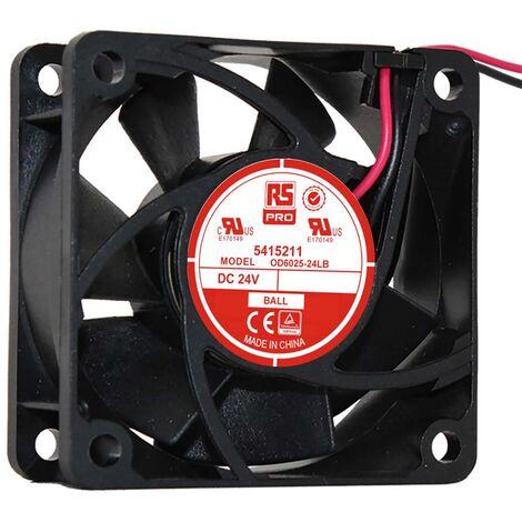 Ventilateur axial RS PRO 24 V c.c., 60 x 60 x 25mm, 13cfm, 1W